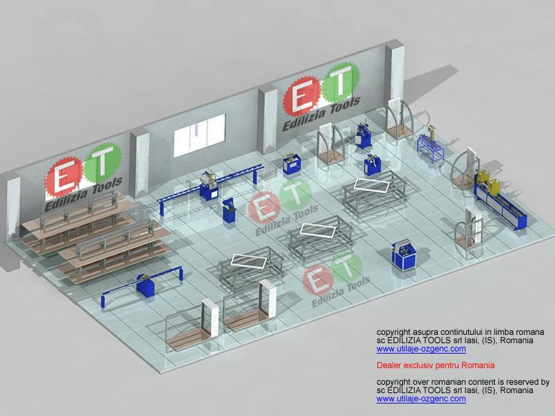 model de atelier dotat cu utilaje noastre pvc si aluminiu